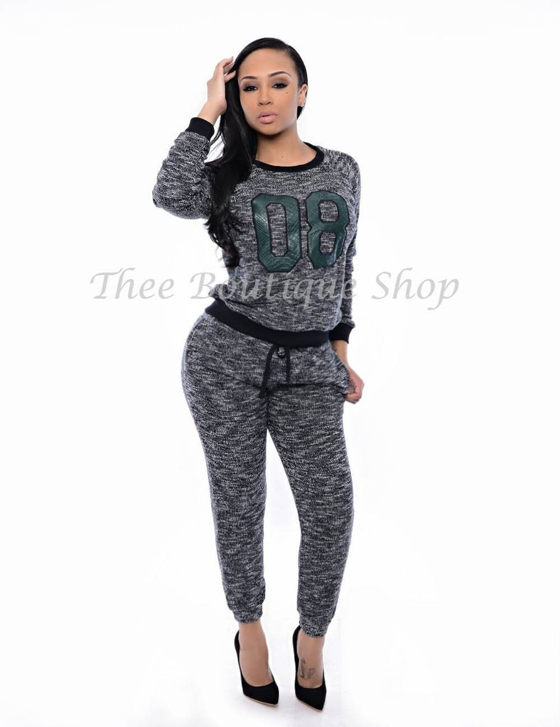 The Lover's & Friends Varsity Python Joggers Set