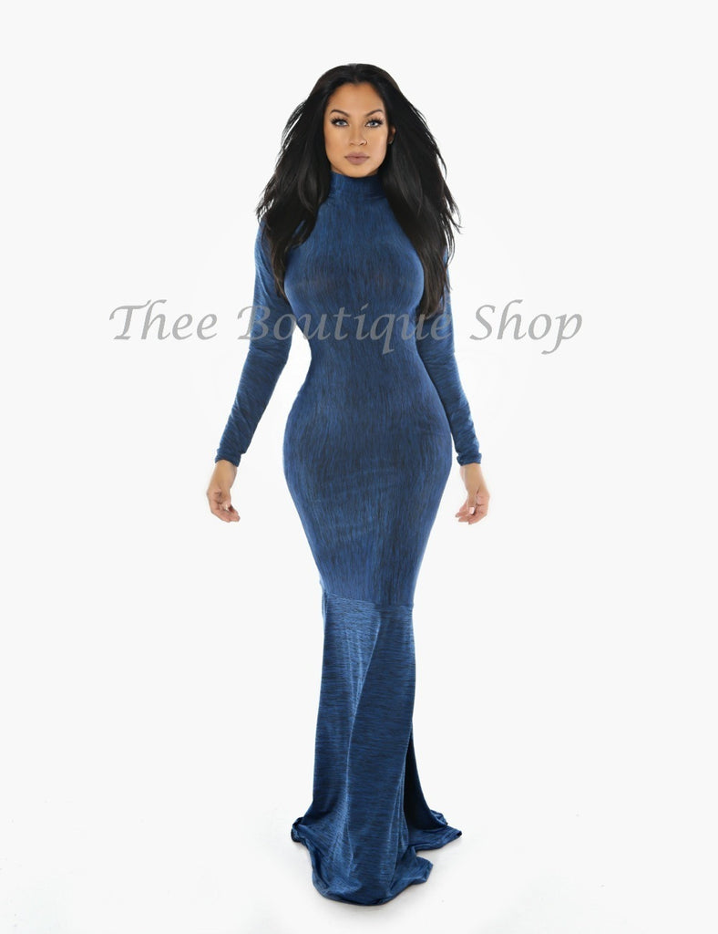 The Bella Classic Mermaid Dress (Blue)