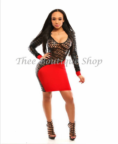 The Luna Xtreme Dress (Rouge)