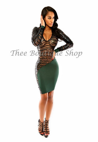 The Luna Xtreme Dress (Verde)
