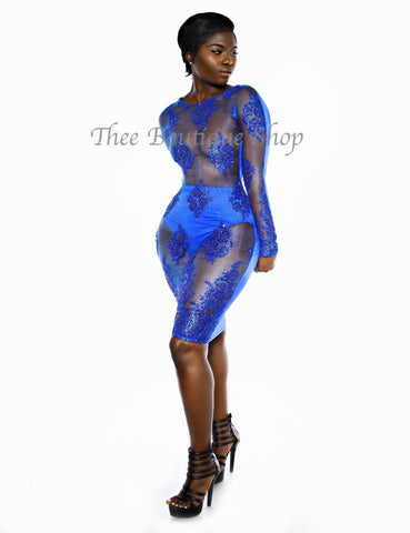 The Montage Classic Illusions Dress (Azul)