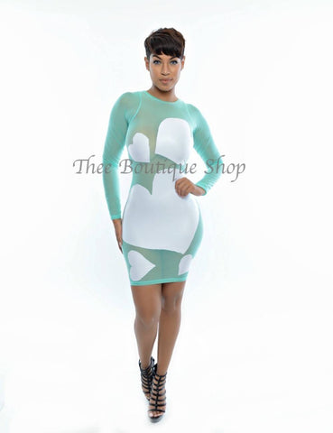 The Love Illusions Dress (Mint)