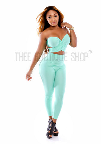 The Mint Versatile Wrap Leggings Set