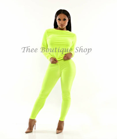 The Plush Joggers Set (Neon Green)