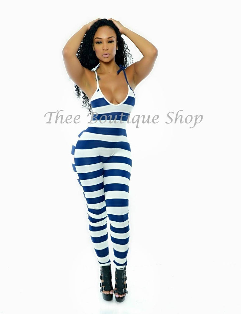 The Nautical Stripes La Mode Jumpsuit