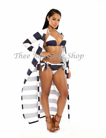 The Bermuda Nautical Wrap Swim Set