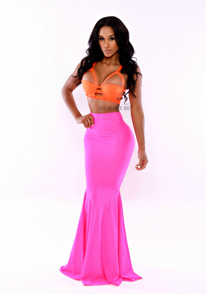 The Neon Pink Mermaid Skirt