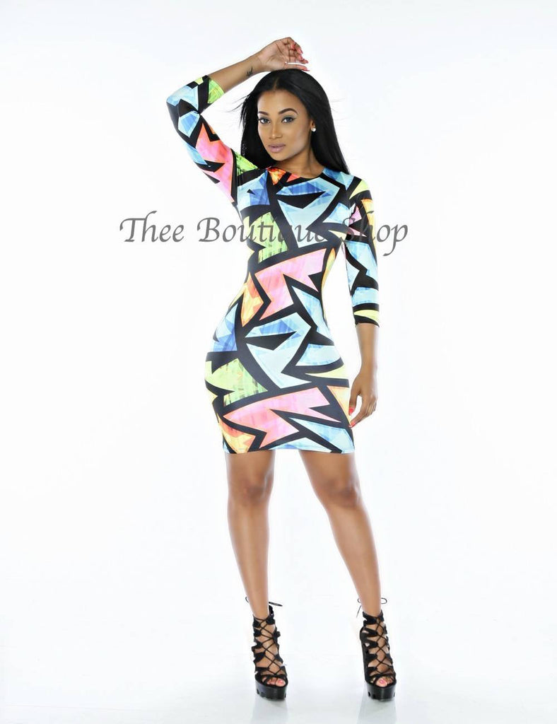 The Neon Ziggy Body Con Dress