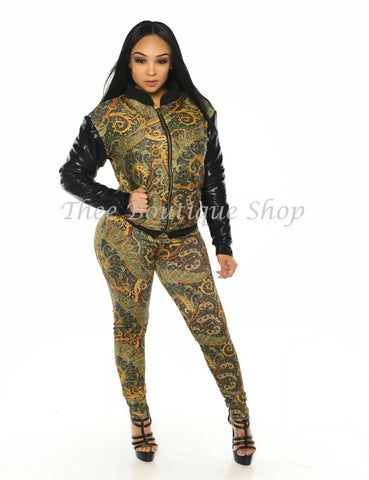 The Paisley Bomber Jacket Set