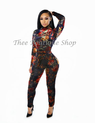 The Grande Flora Plush Jumpsuit