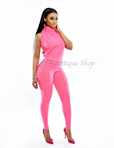 The Pink Barbie Halter Leggings Set