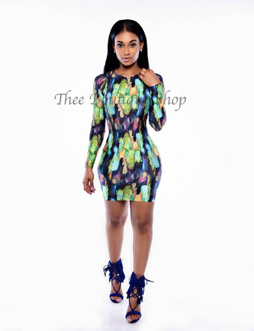The Tropical Reign Body Con Dress