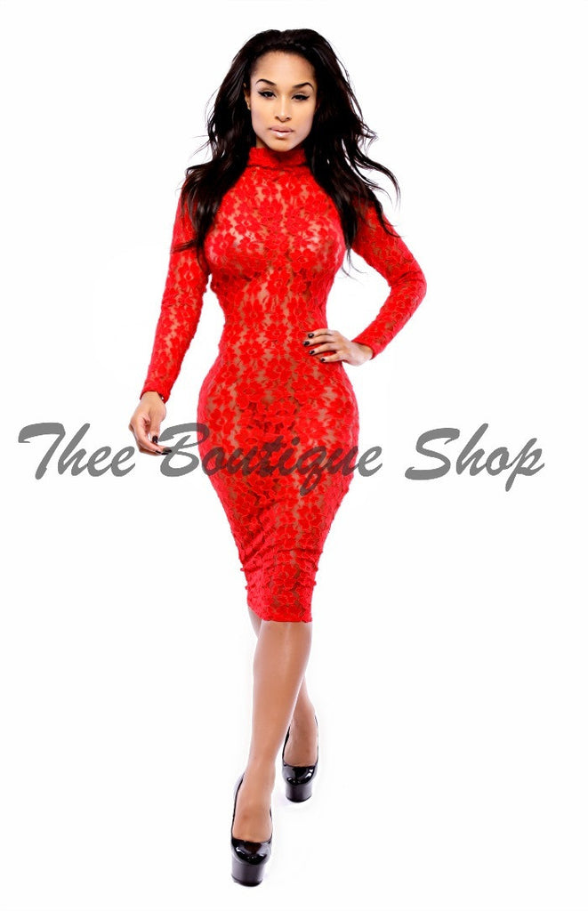 The Moulin Rouge Lace Dress