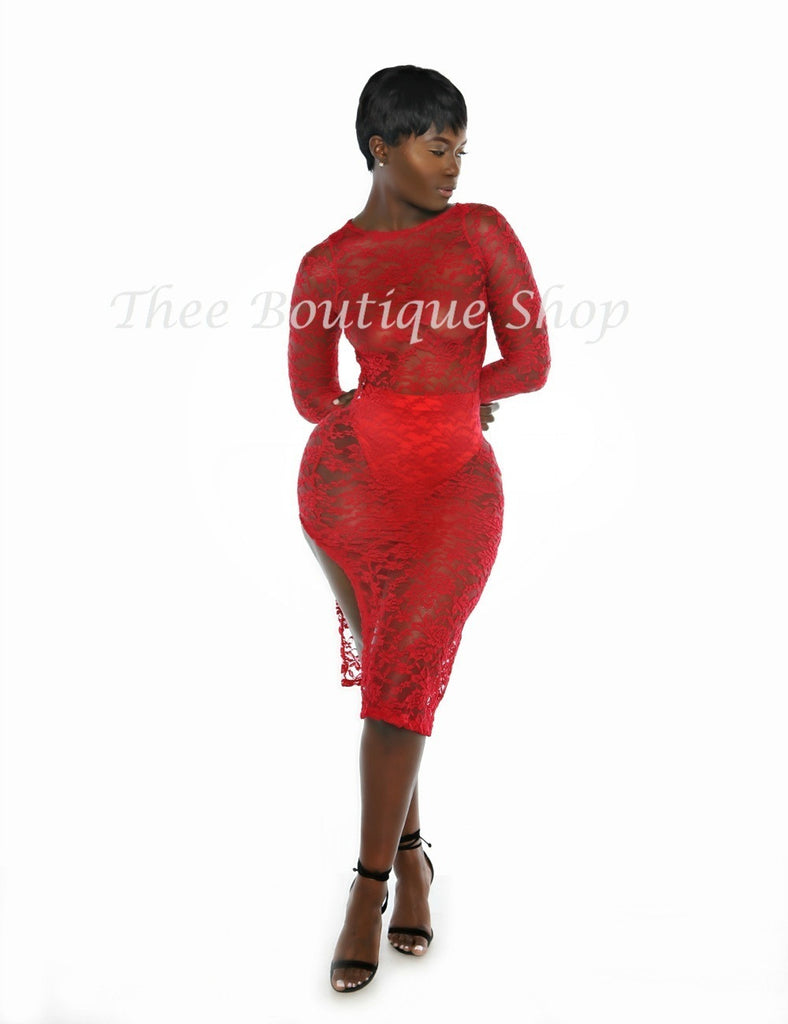 The Elixir Lace Dress (Rouge)