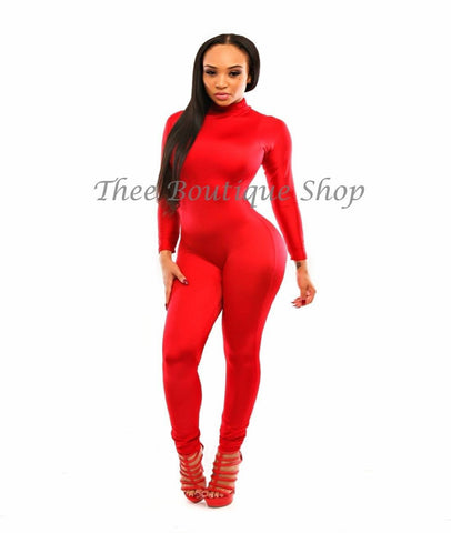 The Classic Bodycon Jumpsuit (Ruby)