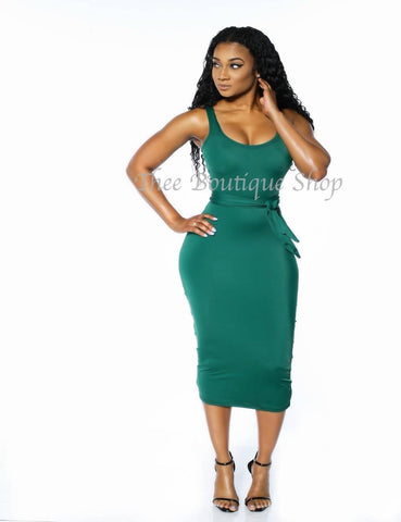 The Classic Midi Tank Dress (Green)