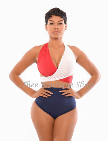 The Patriotic Wrap Swimsuit