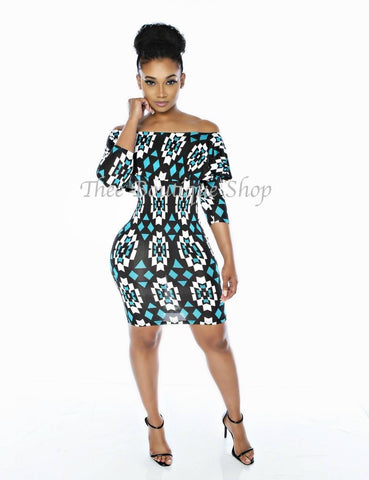 The Cathedral Tribal Peplum Dress