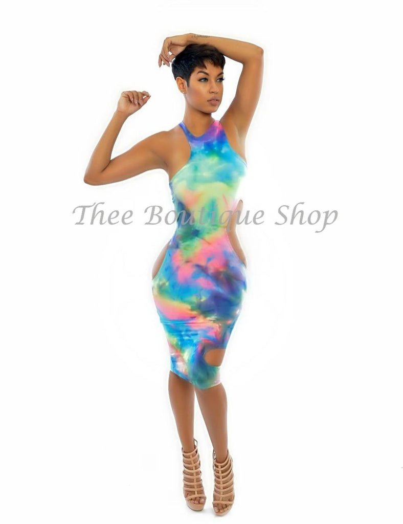 The Candy Extreme Asymmetrical Dress - Thee Boutique Shop