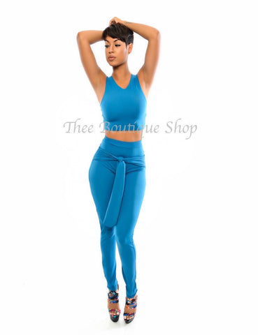 The Love Tie Leggings Set (Turquoise)