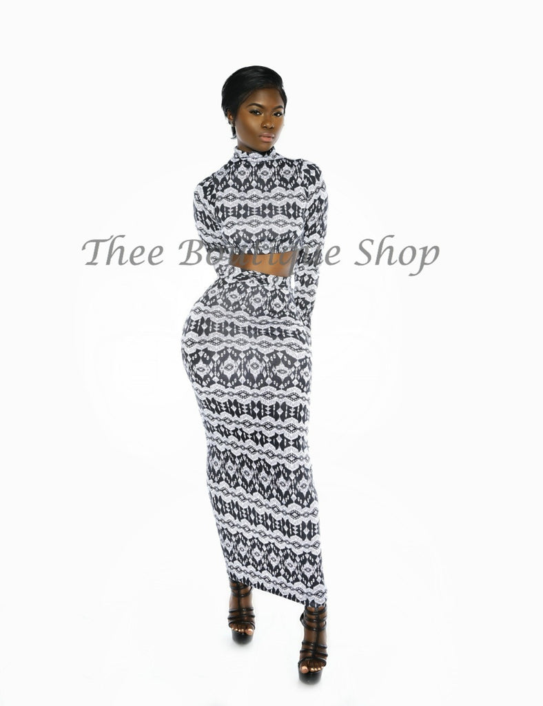 The Neptune Tribal Maxi Set (Noir)