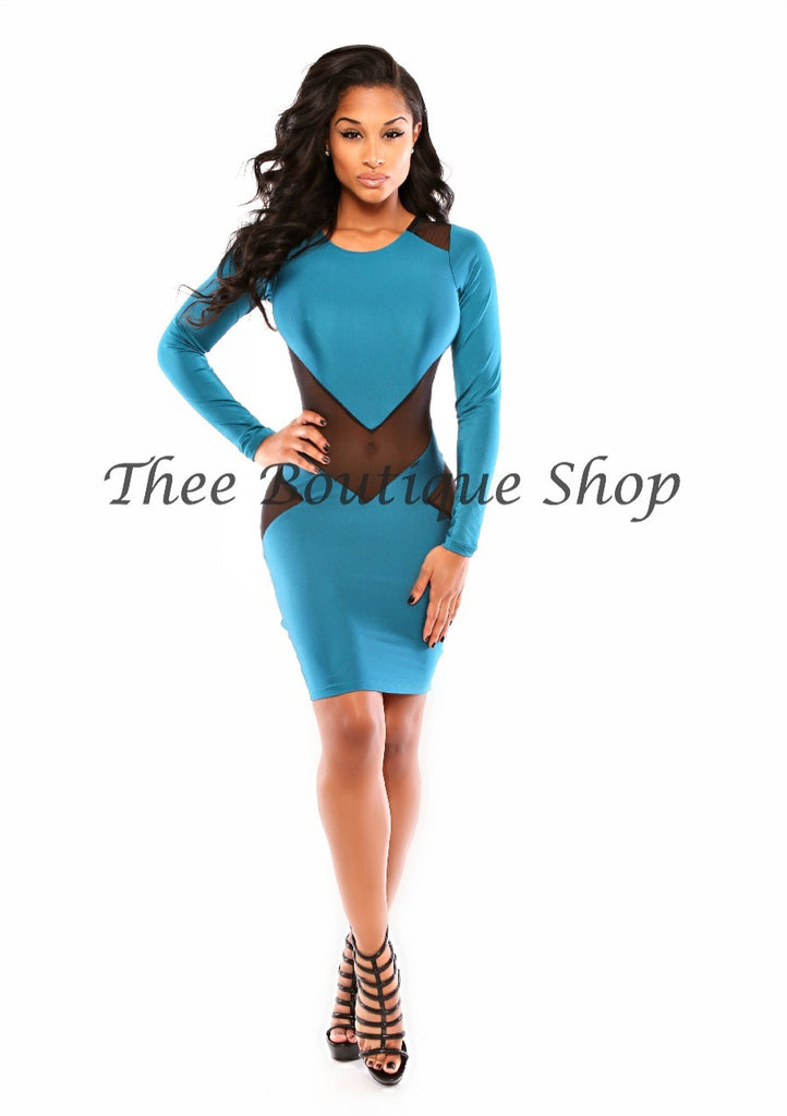The Sigma Illusions Dress (Teal)