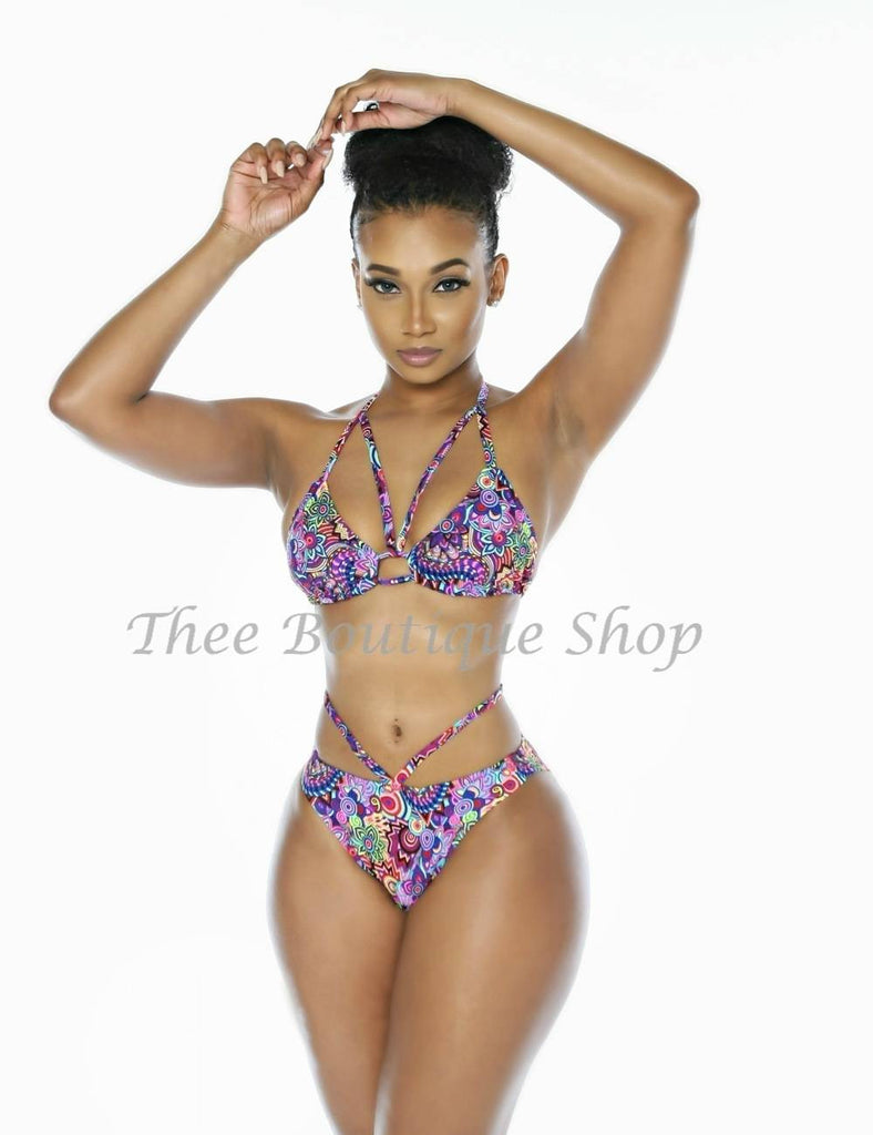 The Venus Flyy Bikini Swimsuit (Psychedelic)