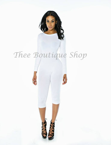 The Classic Capri Jumpsuit (White)
