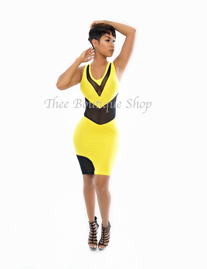 The Xen Illusions Dress (Yellow)