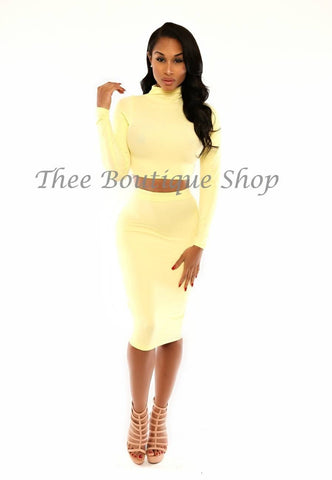 The Classic Turtle Neck Set (Yellow)