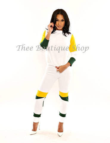 The Leather Speedway Joggers Set (Daffodil)