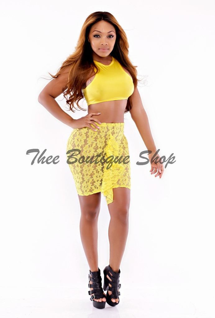 The Canary Lace Illusions Set - Thee Boutique Shop