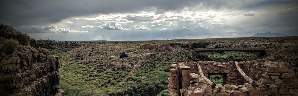 Landscape of cloudy day at Two Guns Arizona