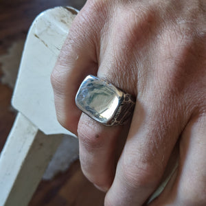Short Hand Forged Signet Ring
