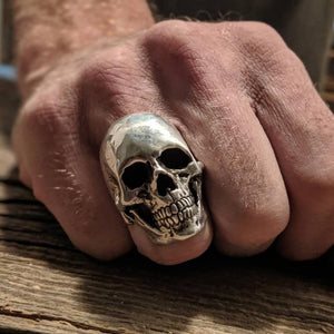 Fully Loaded Full Face Heavy Metal Skull Ring
