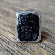 Load image into Gallery viewer, Arizona Black Jade Ring