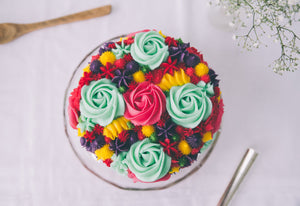 Full Buttercream Flowers Cake