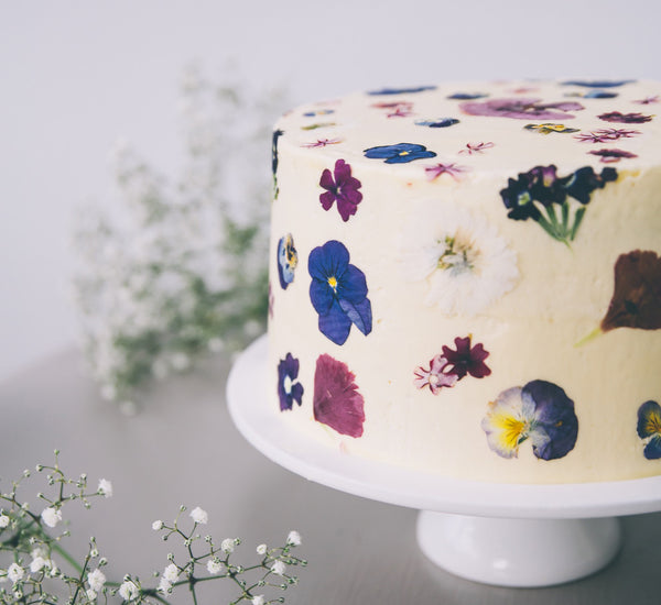 Pressed Wildflowers Cake