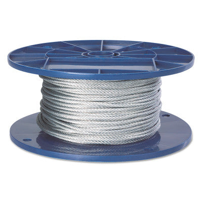 Fiber Core Wire Ropes, 6 Strands, 19 Strands/Wire, 1/4 in, 1,096 lb Load