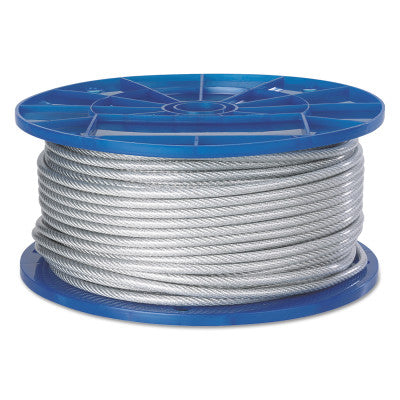 Aircraft Quality Wire Ropes, 7 Strands, 19 Strands/Wire, 1/4 in, 850 lb Load