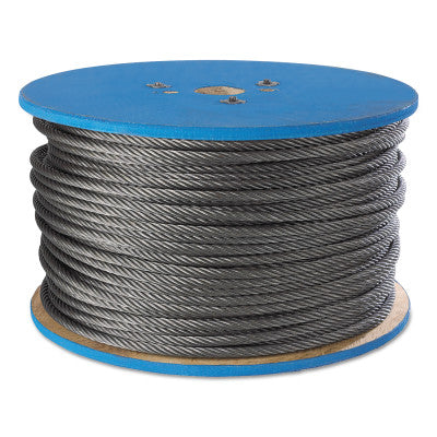 Aircraft Quality Wire Ropes, 7 Strands, 7 Strands/Wire, 1/8 in, 340 lb Load