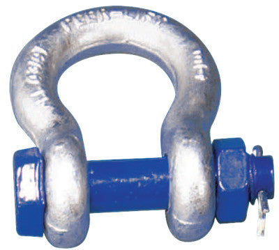 Safety Pin Anchor Shackles, 3/4 in Bail Size, 4.75 Tons
