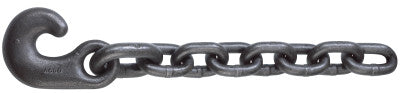Winch Line Tail Chain Assemblies, Size 3/4 in, 19,750 lb Limit, Bright