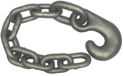 Winch Line Tail Chain Assemblies, Size 5/8 in, 14,000 lb Limit, Bright