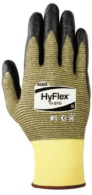 HyFlex Light Cut Protection Gloves, Size 10, Black