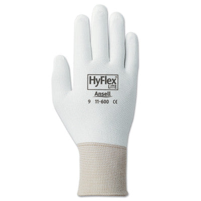 HyFlex Lite Gloves, 8, White