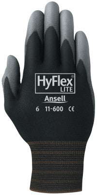 HyFlex Lite Gloves, 9, Black/Gray