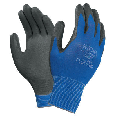 Hyflex Gloves, 10, Black/Blue