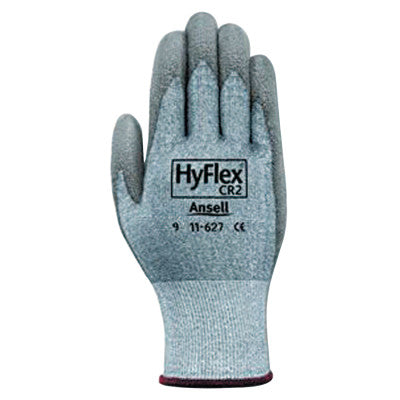 HyFlex 11-627 Dyneema/Lycra Work Gloves, Size 10, Gray