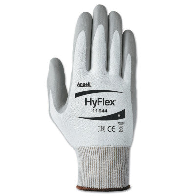 HyFlex 11-644 Light Cut Protection Gloves, Size 9, Gray/White